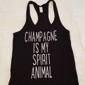 Champagne Is My Spirit Animal tank